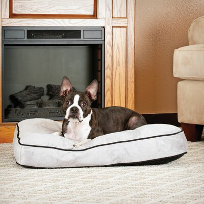 Dog Tufted Pillow Top Bed Size: Small, Color: Gray