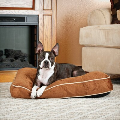 Dog Tufted Pillow Top Bed Size: Small, Color: Chocolate