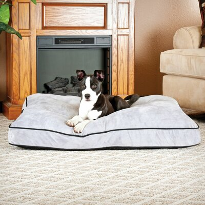 Dog Tufted Pillow Top Bed Size: Large, Color: Gray