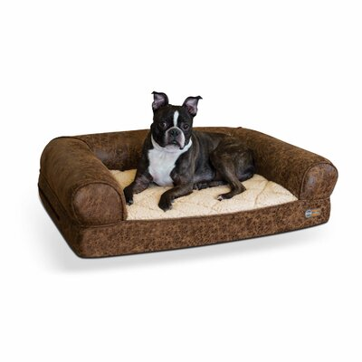 Pet Products Bomber Memory Dog Sofa Size: Small (33 W x 24 D x 8.5 H), Color: Brown