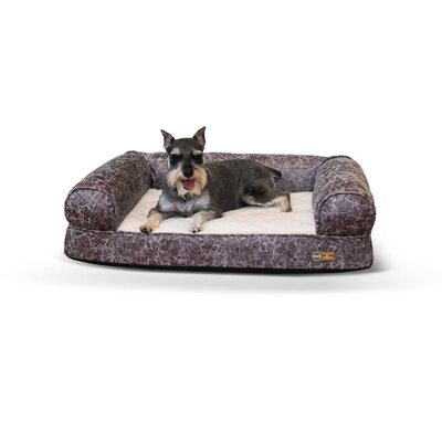 Pet Products Bomber Memory Dog Sofa Size: Small (33 W x 24 D x 8.5 H), Color: Gray