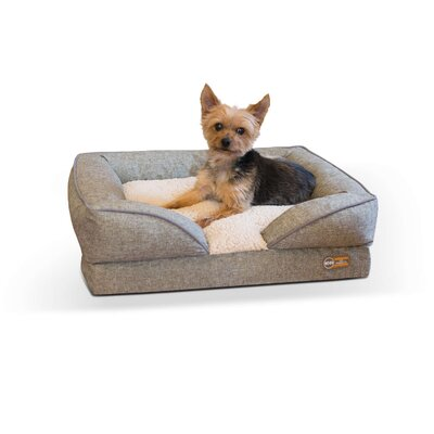 Pet Products Pillow-Top Orthopedic Pet Bolster Size: Small (24 W x 18 D x 8 H), Color: Tan