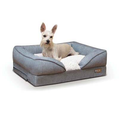 Pet Products Pillow-Top Orthopedic Pet Bolster Size: Small (24 W x 18 D x 8 H), Color: Gray