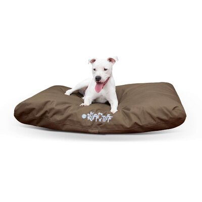 Pet Products K-9 Ruff N Tuff Indoor-Outdoor Pet Pillow Size: Medium (36 W x 27 D x 3 H), Color: Chocolate