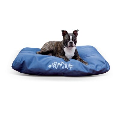 Pet Products K-9 Ruff N Tuff Indoor-Outdoor Pet Pillow Size: Medium (36 W x 27 D x 3 H), Color: Blue