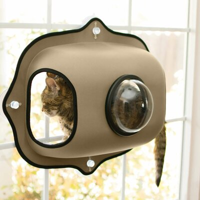 EZ Mount Window Bubble Cat Pod Color: Tan