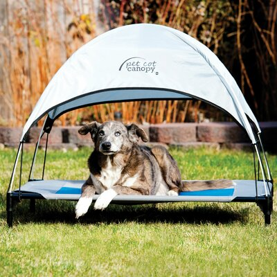 Pet Cot Canopy Bed Accessory Size: Large (28 H x 30 W x 42 L), Color: Gray
