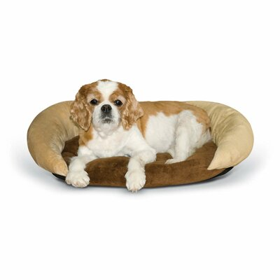 Self-Warming Bolster Color: Chocolate/Tan