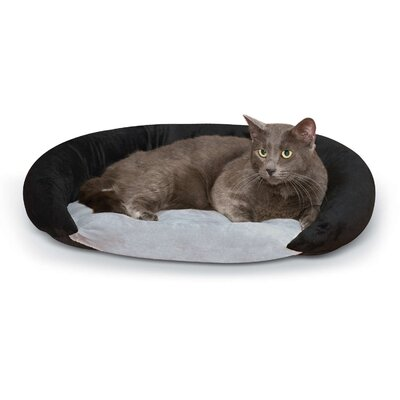 Self-Warming Bolster Color: Gray/Black
