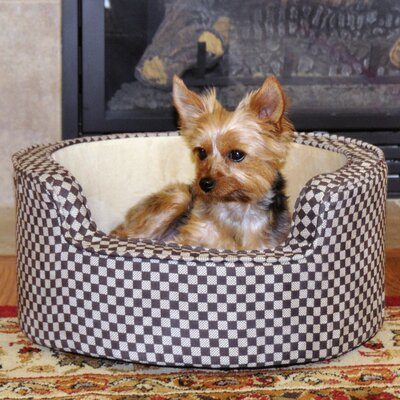 Round Comfy Sleeper Self-Warming Pet Bolster Color: Tan Brown