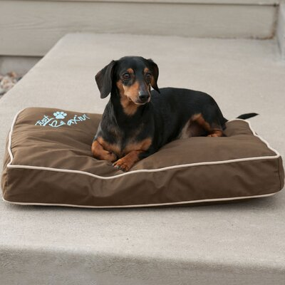 Just Relaxin Indoor/Outdoor Pet Mat Size: Small (26 W x 18 D x 3.5 H), Color: Chocolate