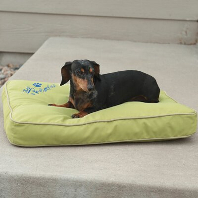 Just Relaxin Indoor/Outdoor Pet Mat Size: Small (26 W x 18 D x 3.5 H), Color: Green