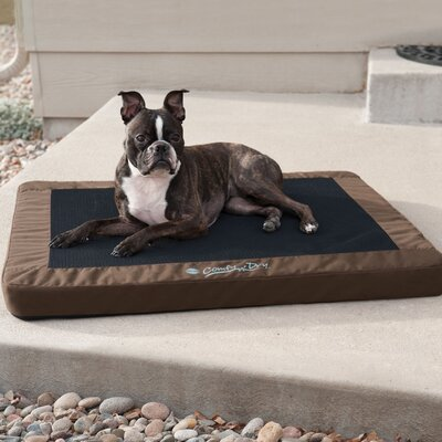 Comfy n Dry Indoor-Outdoor Pet Pad Size: Small (26 W x 18 D x 2.5 H), Color: Chocolate