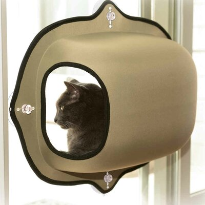 EZ Mount Window Pod Kitty Sill Color: Tan