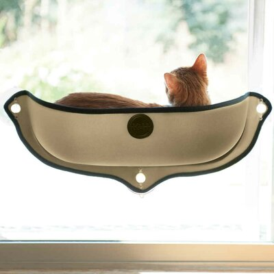 EZ Mount Window Bed Kitty Sill Color: Tan
