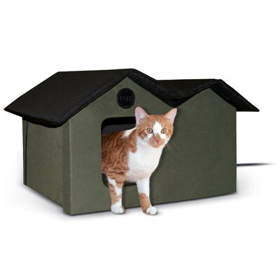 Outdoor Heated Kitty House Extra-Wide