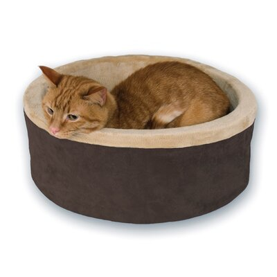Thermo Kitty Bolster Bed Color: Brown