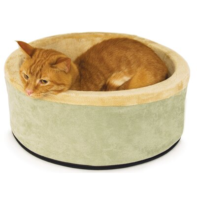 Thermo Kitty Bolster Bed Color: Sage