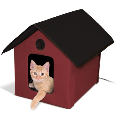 Outdoor Heated Kitty Hooded/Dome Color: Red