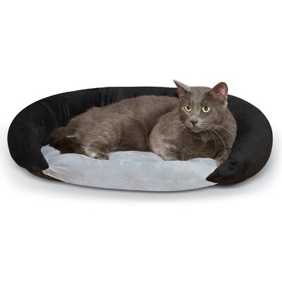 Self-Warming Hooded/Dome Bolster Bed Color: Black/Gray