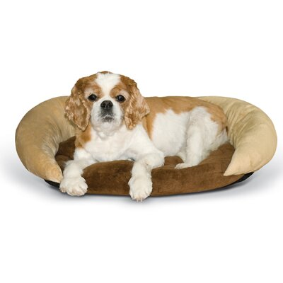 Self-Warming Hooded/Dome Bolster Bed Color: Tan/Brown