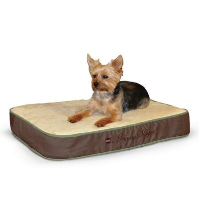 Memory Sleeper Dog Bed Color: Mocha, Size: Large