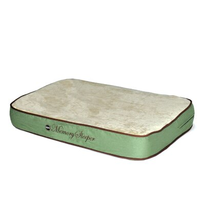 Memory Sleeper Dog Bed Color: Sage, Size: Medium