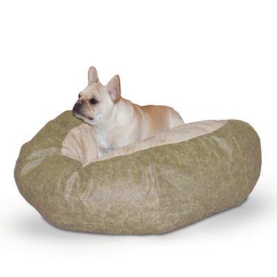 Self Warming Cuddle Ball Dog Pillow Color: Green Distress, Size: Medium (38 L x 38 W)