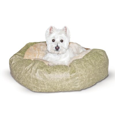 Self Warming Cuddle Ball Dog Pillow Color: Green Distress, Size: Large (48 L x 48 W)