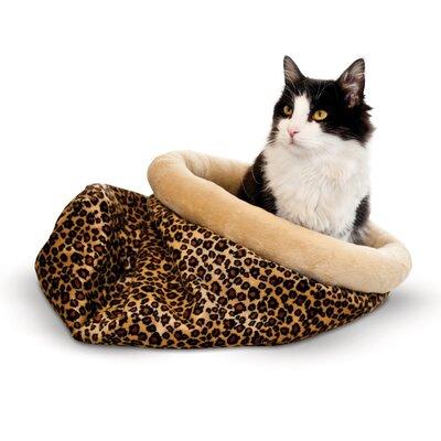 Self Warming Leopard Kitty Sack