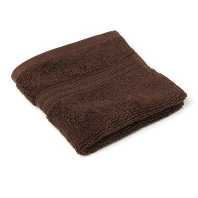 Bliss Egyptian Quality Cotton Luxury Wash Cloth Color: Chocolate