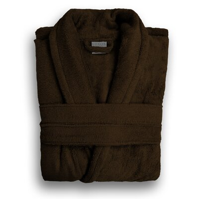 Anini Rayon from Bamboo and Cotton Spa Bath Robe Color: Coffee