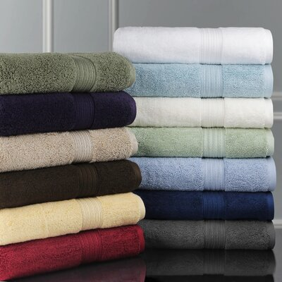 Bliss Egyptian Cotton Luxury Hand Towel Color: Charcoal