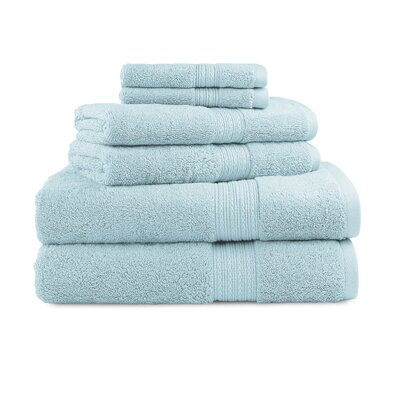 Bliss Egyptian Quality Cotton Luxury 6 Piece Towel Set Color: Robins Egg Blue
