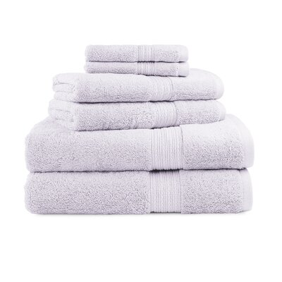 Bliss Egyptian Quality Cotton Luxury 6 Piece Towel Set Color: Wisteria