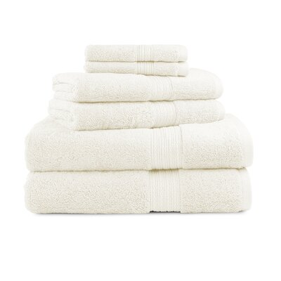 Bliss Egyptian Quality Cotton Luxury 6 Piece Towel Set Color: Ivory