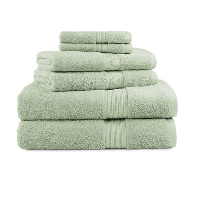 Bliss Egyptian Quality Cotton Luxury 6 Piece Towel Set Color: Celery