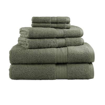 Bliss Egyptian Quality Cotton Luxury 6 Piece Towel Set Color: Moss