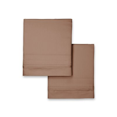 Valentino Pillowcase Color: Taupe, Size: King