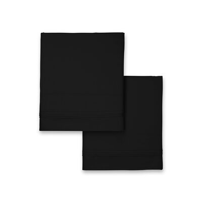 Celina Hotel Pillowcase Size: King, Color: Black