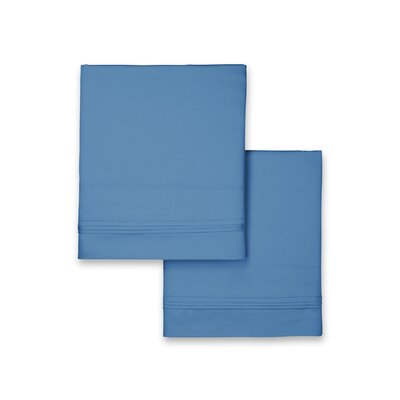 Celina Hotel Pillowcase Color: Blue, Size: King
