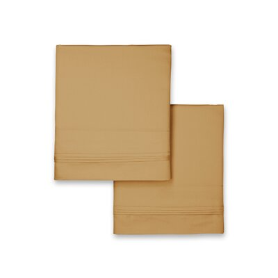 Celina Hotel Pillowcase Size: Standard, Color: Gold