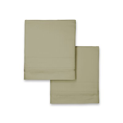 Celina Hotel Pillowcase Size: Standard, Color: Sage