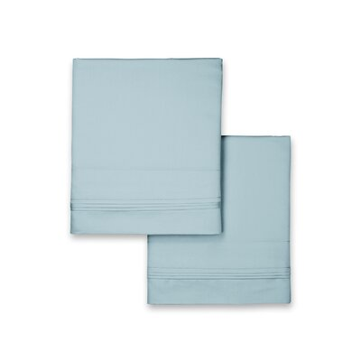 Valentino Pillowcase Color: Sky, Size: King