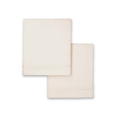 Celina Hotel Pillowcase Color: Ivory, Size: King
