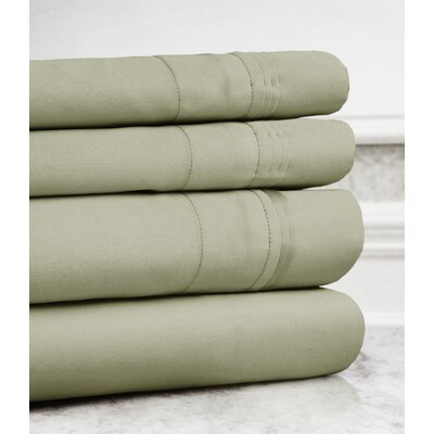 Celina Hotel 4 Piece 800 Thread Count 100% Cotton Sheet Set Size: King, Color: Sage