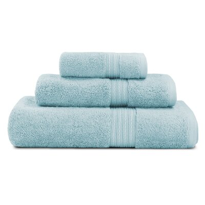 Bliss Egyptian Quality Cotton Luxury 3 Piece Towel Set Color: Robins Egg Blue