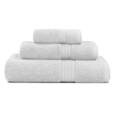 Bliss Egyptian Quality Cotton Luxury 3 Piece Towel Set Color: White