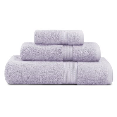 Bliss Egyptian Quality Cotton Luxury 3 Piece Towel Set Color: Wisteria