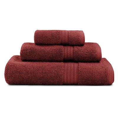 Bliss Egyptian Quality Cotton Luxury 3 Piece Towel Set Color: Garnet Red